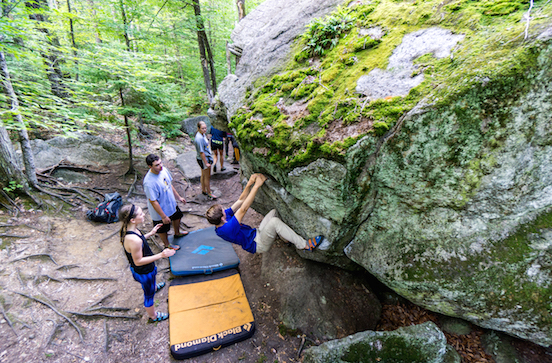 Bouldering with Outdoor Education