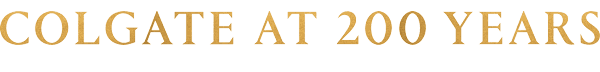 Gold Colgate at 200 years email wordmark