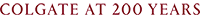 Maroon Colgate at 200 years email wordmark