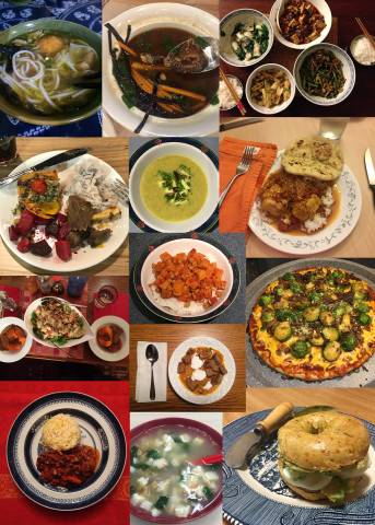 Collage of different meals from Colgate community members