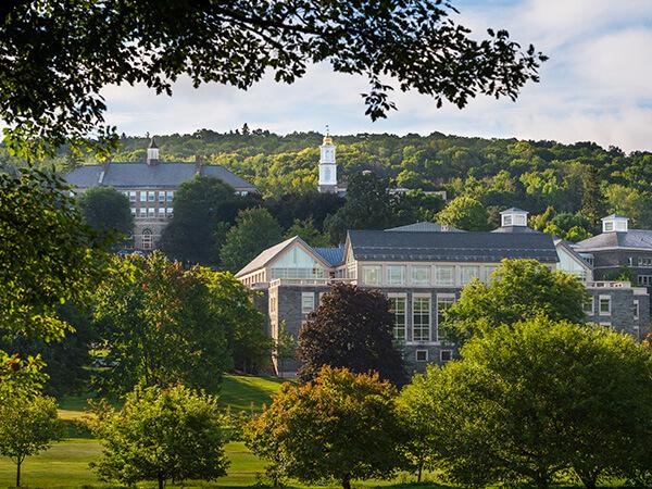 Scenic view of the Colgate University hillside campus