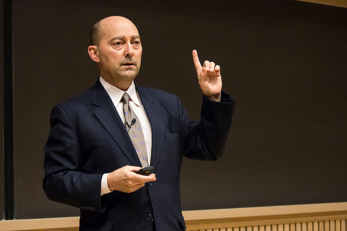 Former NATO commander Adm. James Stavridis speaks about current challenges to global security and opportunities for international collaboration.