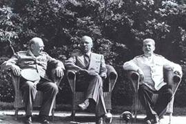 Stalin, FDR, and Churchill during WWII