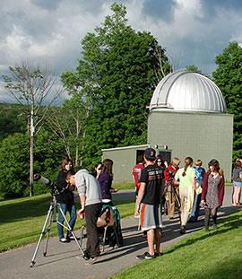 The campus community flocks to the Foggy Bottom Obervatory for events like the Venus transit