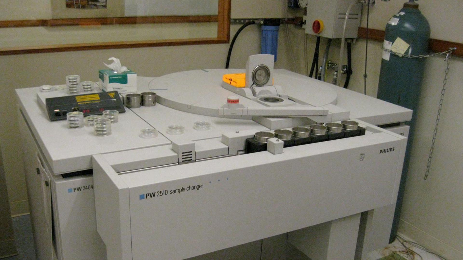 X-ray fluorescence spectrometer in lab.