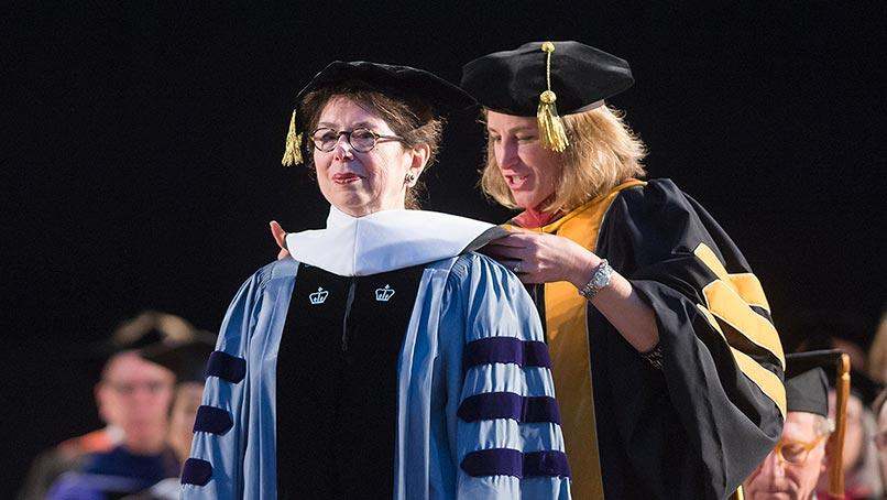 Jane Pinchin receives an honorary degree at Colgate Commencement