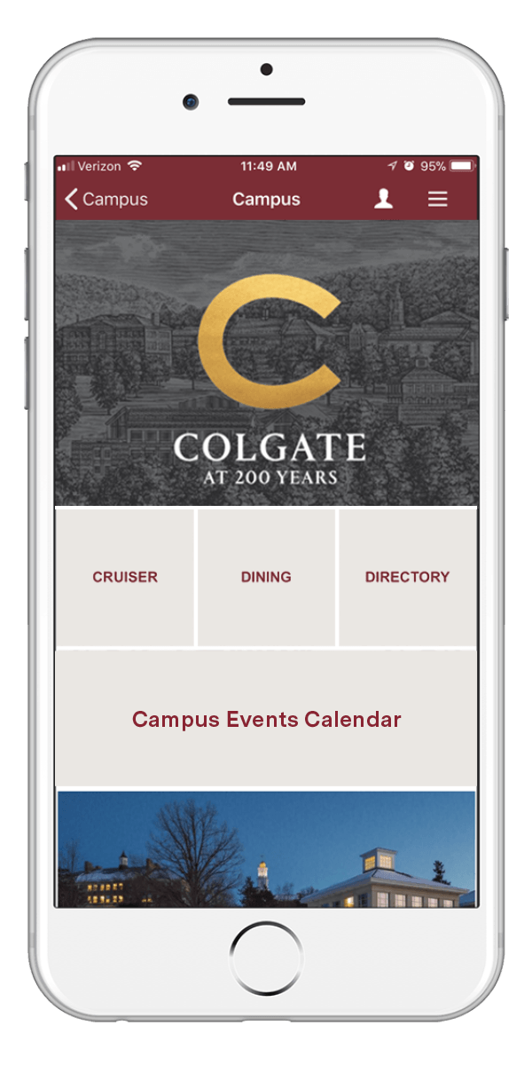 Mockup of the Colgate Mobile App displaying on an iPhone