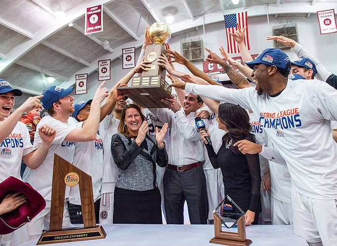 Colgate Men's Basketball Wins First Patriot League Championship in 23 Years