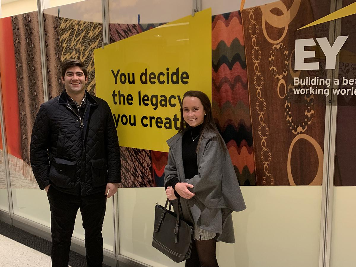Campbell Matheis '21 with Matthew Reyes-Guerra-Dunn '15 at EY