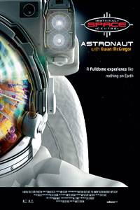 movie poster of an astronaut with cosmos reflected in helmet