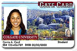 Colgate University Gate Card