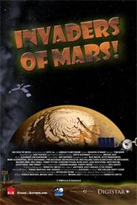 movie poster with a illustration of Mars