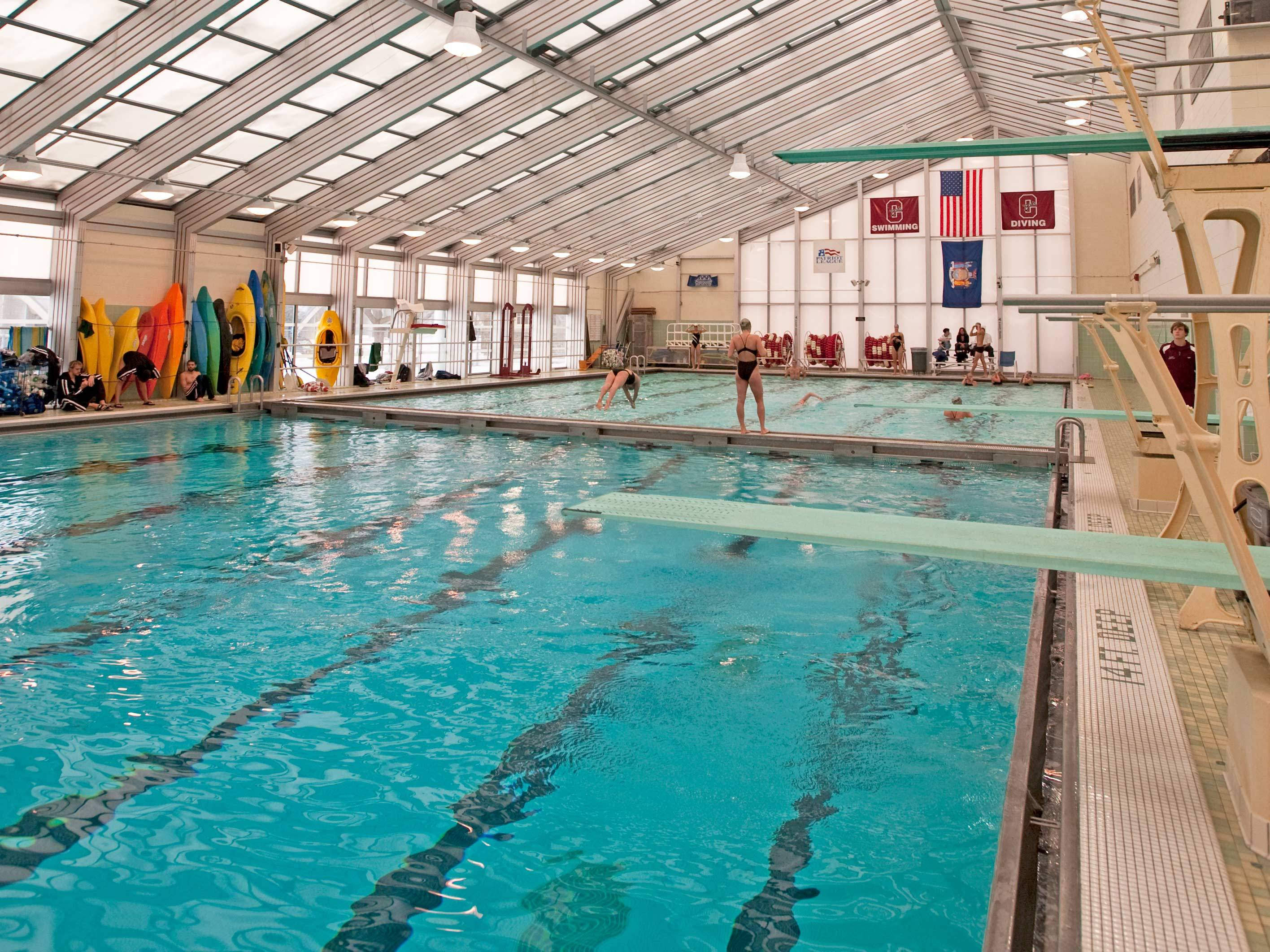 The pool in Lineberry Natatorium at Colgate University
