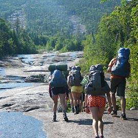 Colgate students backpacking