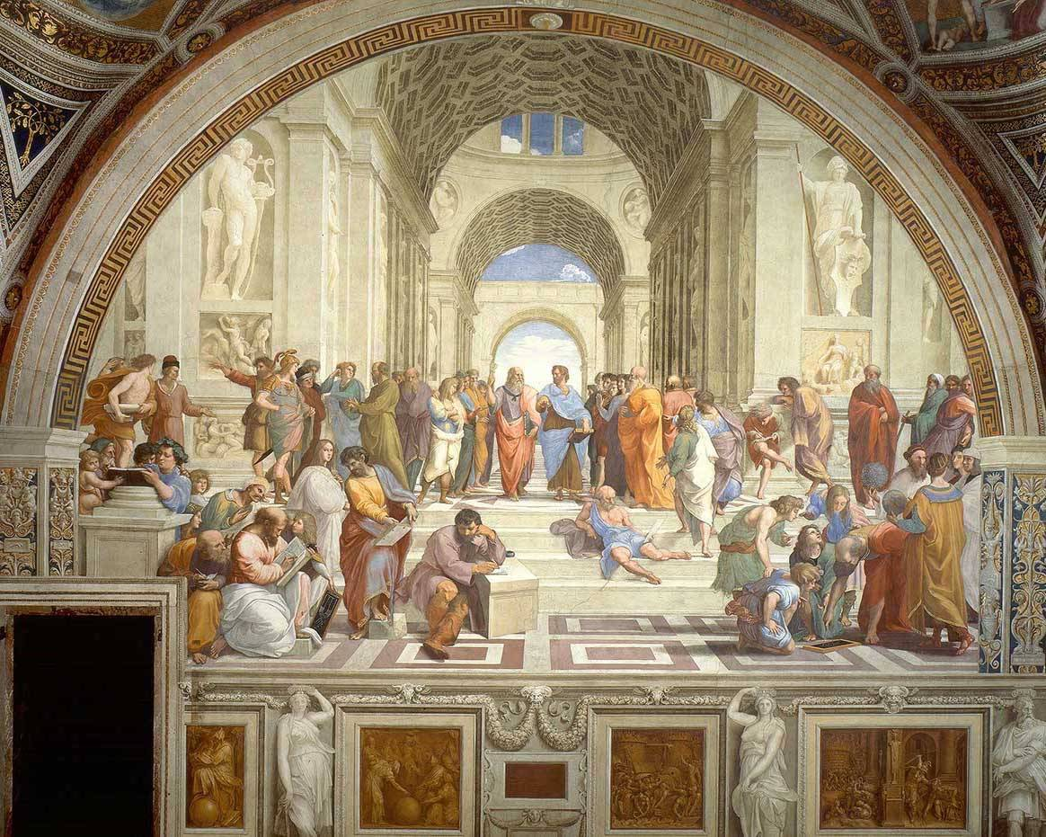 Painting: The School of Athens by Raffaello Sanzio da Urbino
