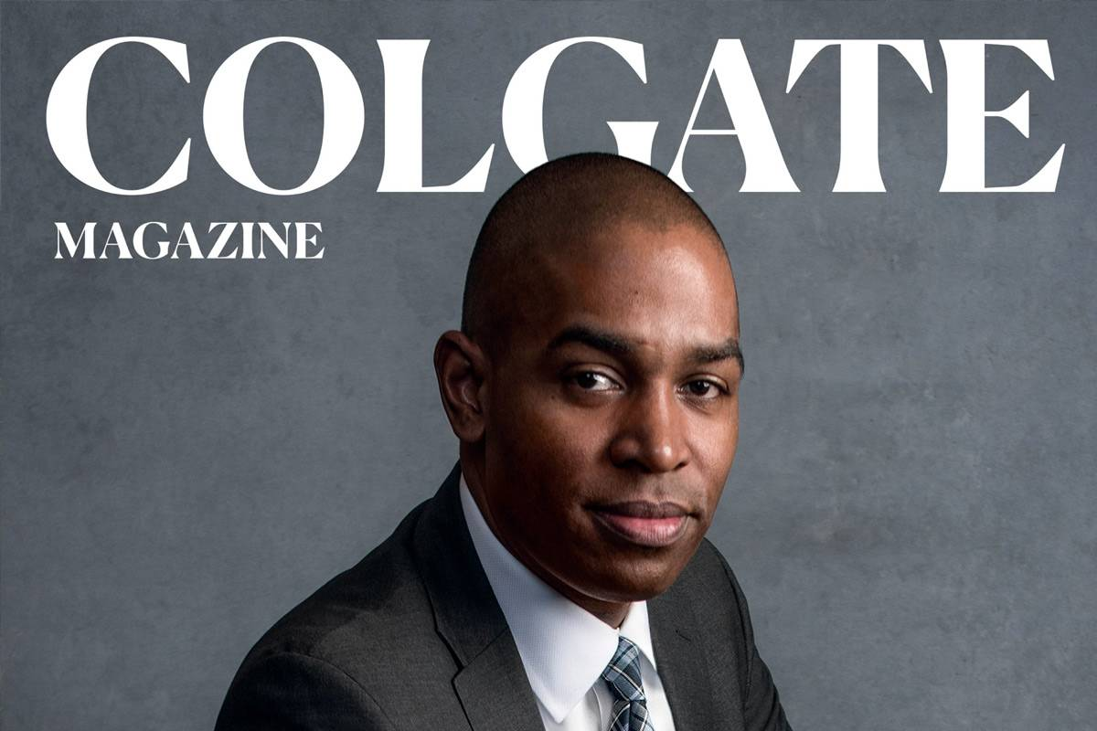 Rep. Antonio Delgado on the cover of the Colgate Magazine