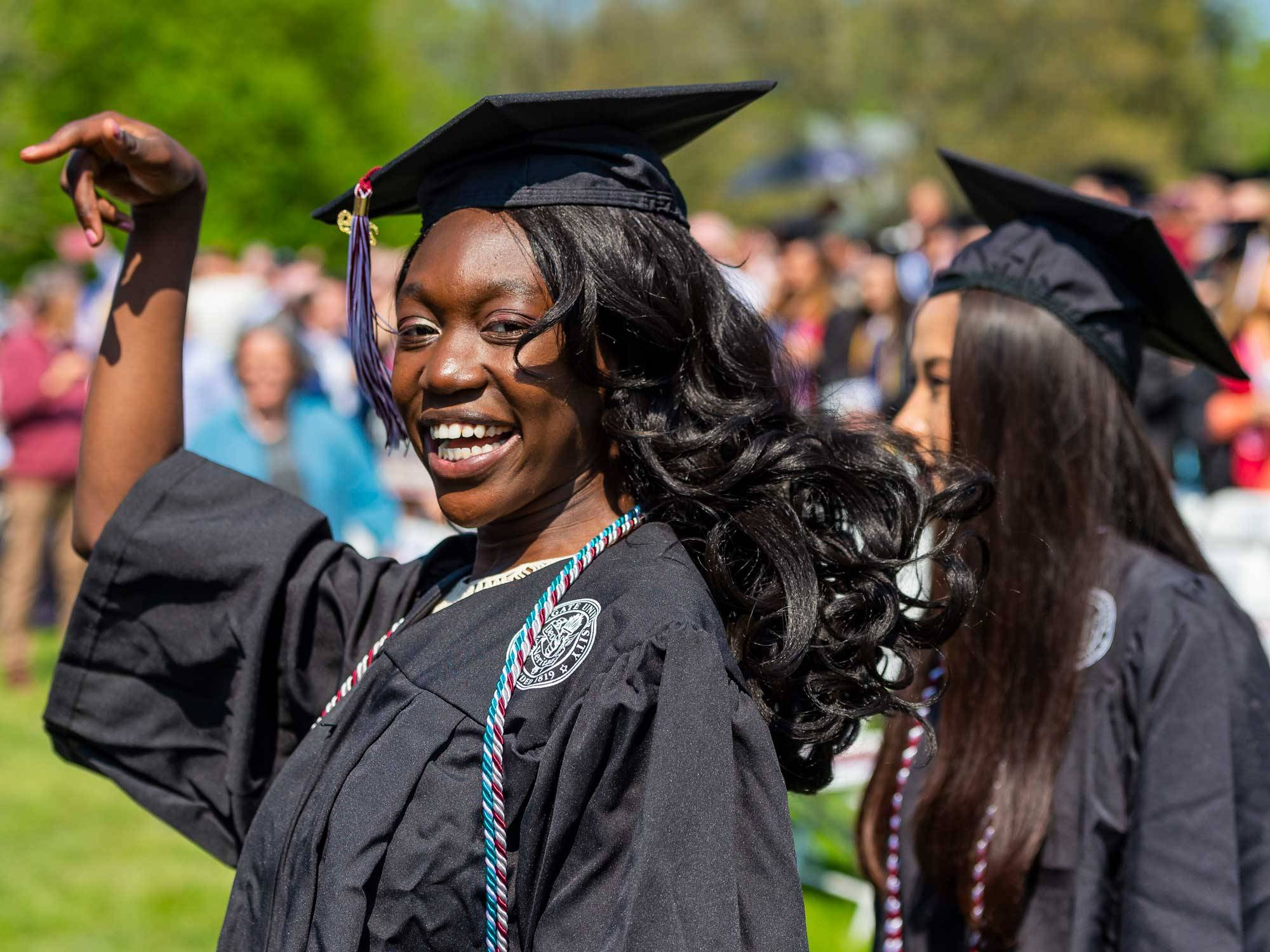 Graduates celebrate at commencement 2019