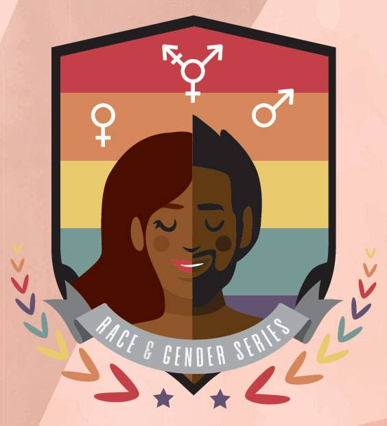 Icon depicting a range of races and genders that reads Race & Gender Series