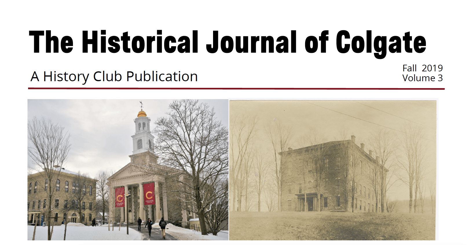 The Historical Journal of Colgate, Volume 3