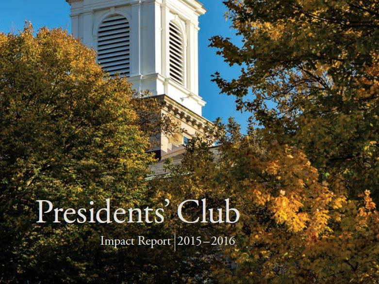 Presidents' Club Impact Report Cover 2017