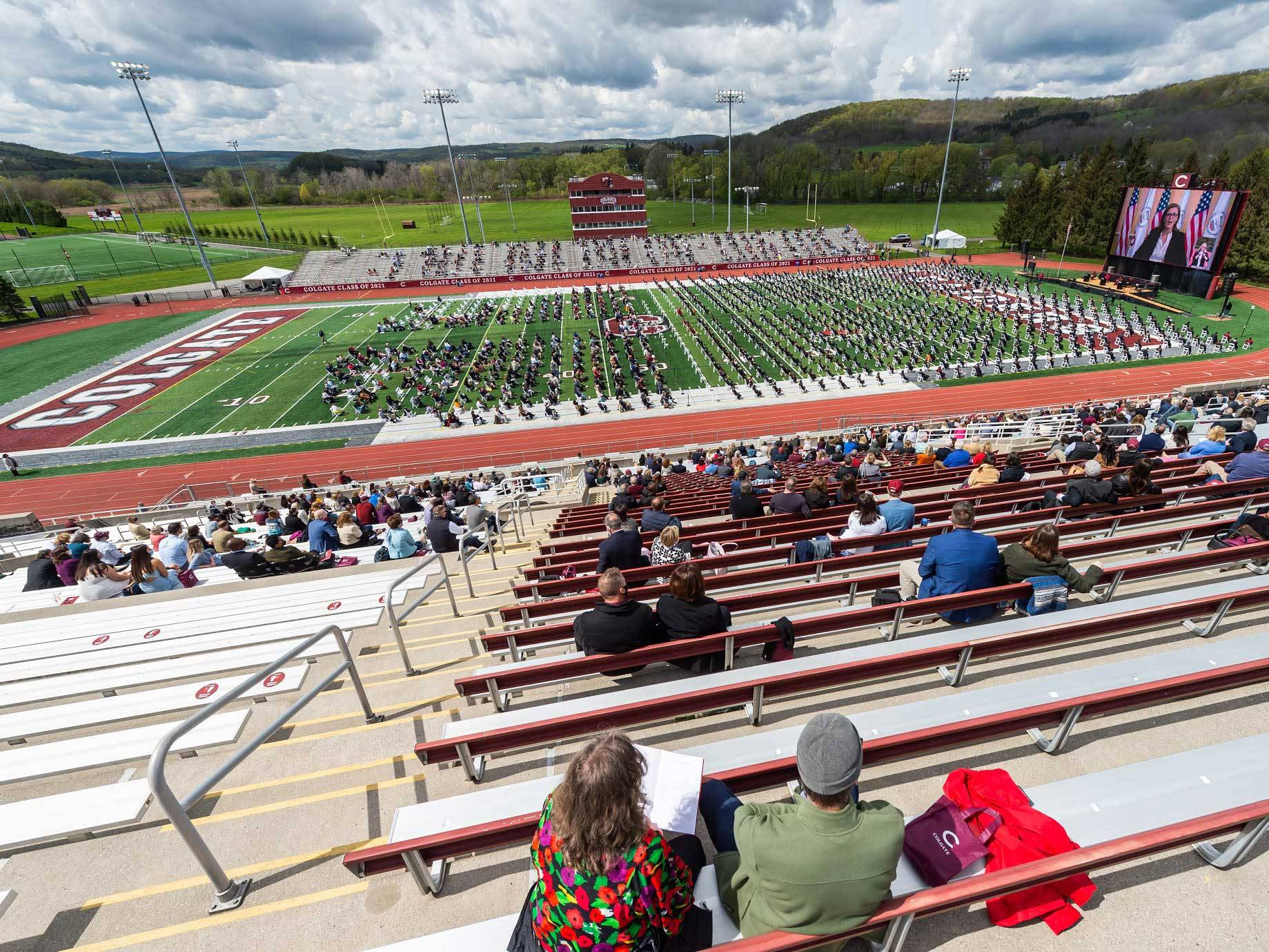 Andy Kerr Stadium during Commencement 2021
