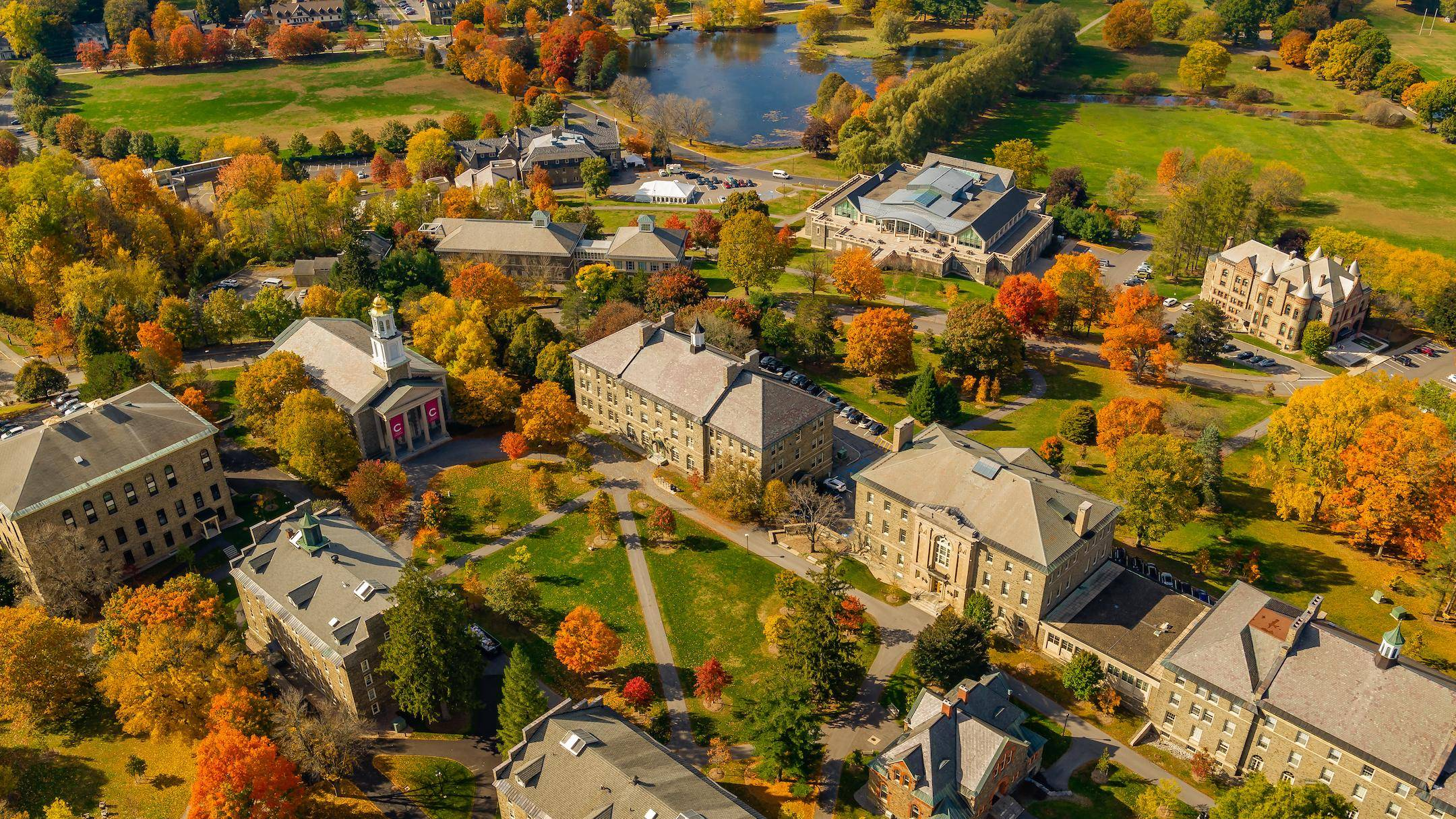 Aerial view of the academic quad