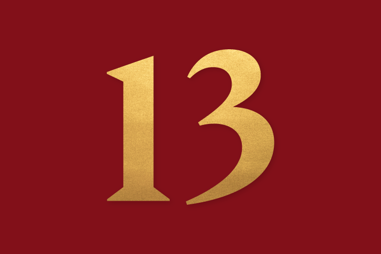 Colgate Lucky 13, in gold for the university's Bicentennial