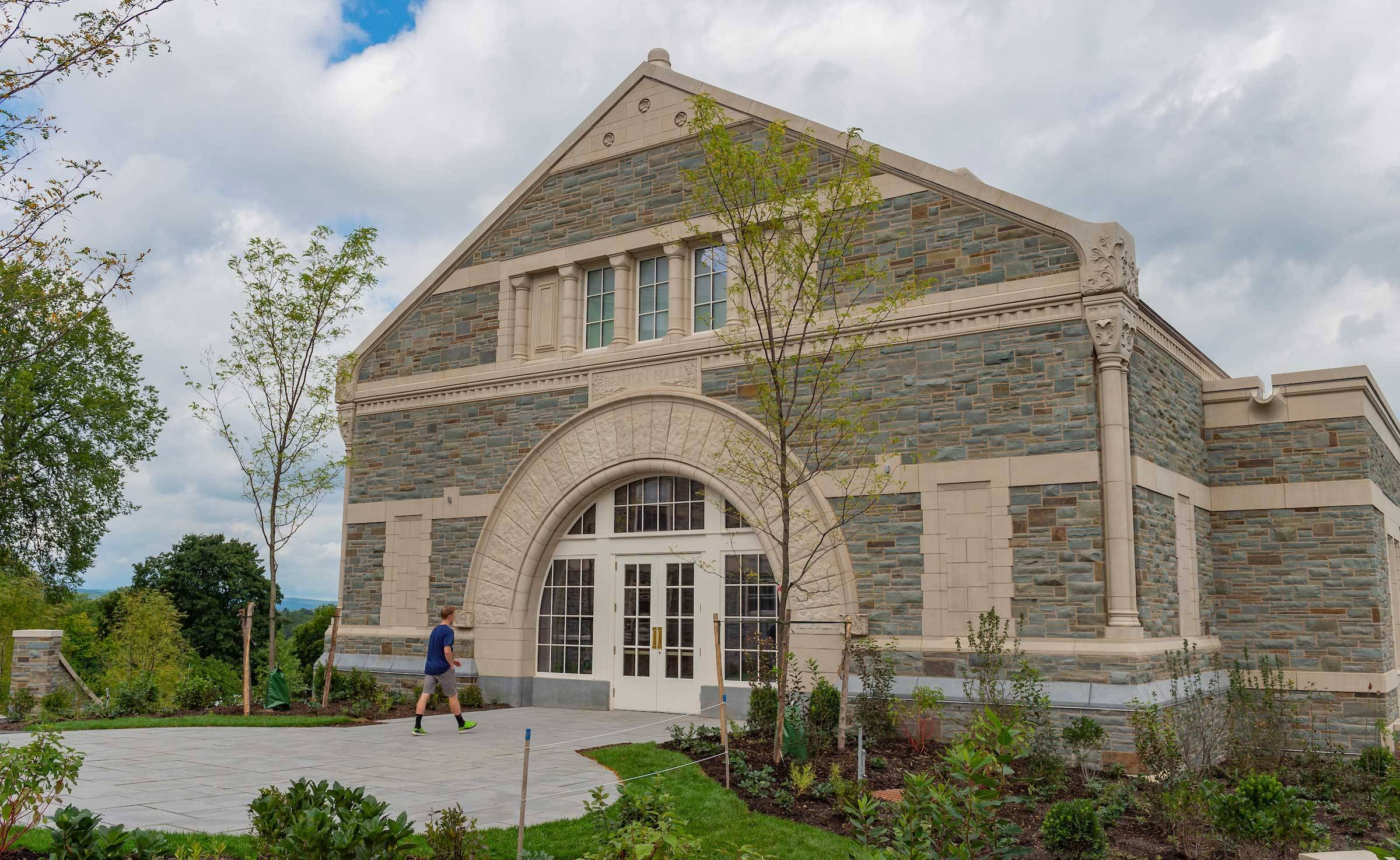 An exterior photo of Benton Hall, Colgate's new home for the Office of Career Services.