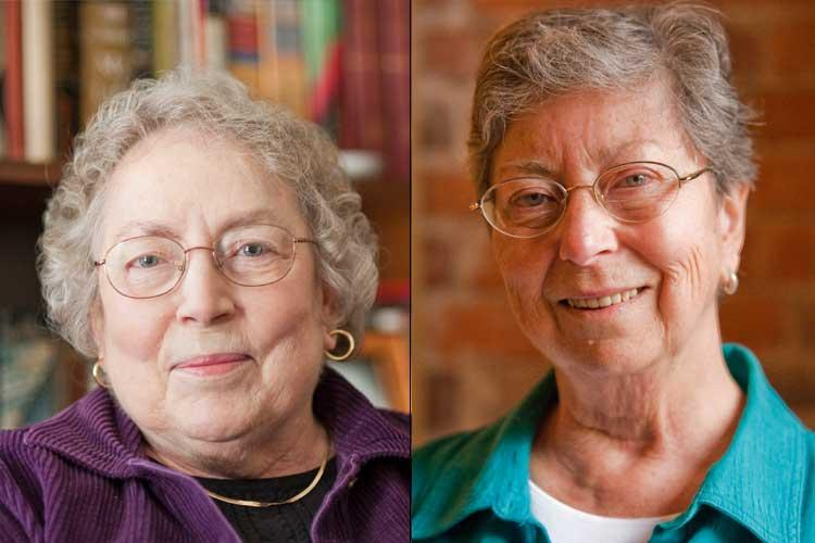 portraits of Wanda Warren Berry (left) and Marilyn Thie (right)