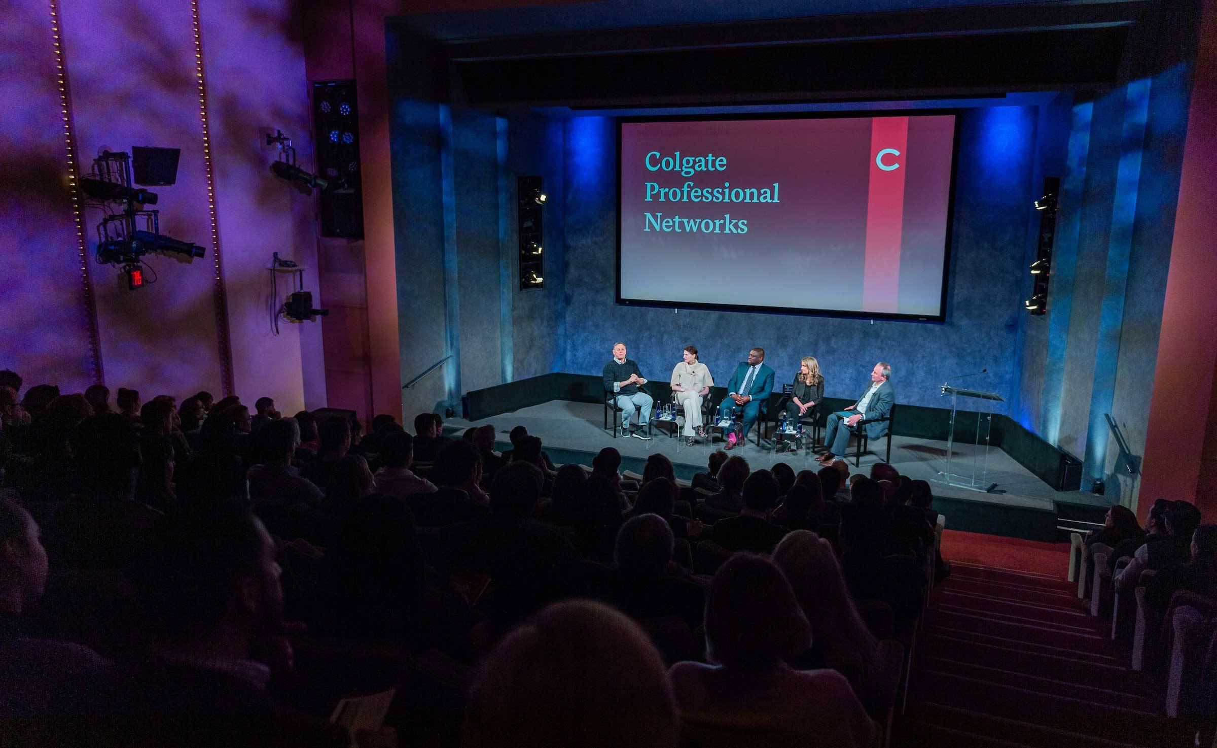 A panel talk during the recent Colgate Professional Networks Innovation and Creativity event in New York City
