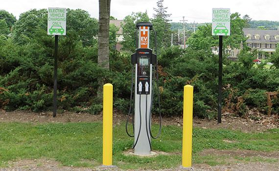 ChargePoint charging station at Colgate University