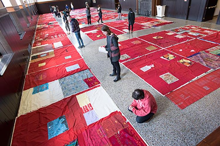 Monument Quilt at Colgate, supporting survivors of sexual assault