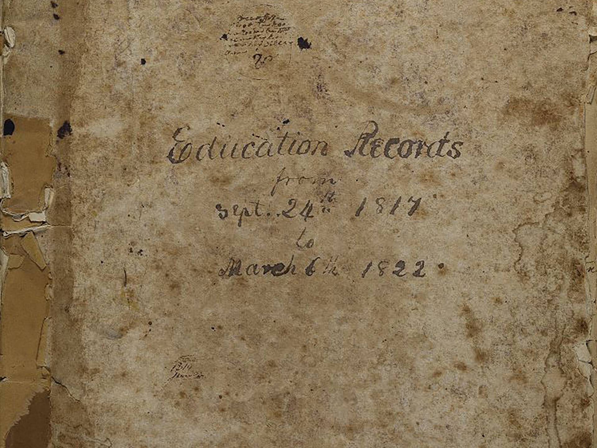 BESSNY Education Records ledger cover