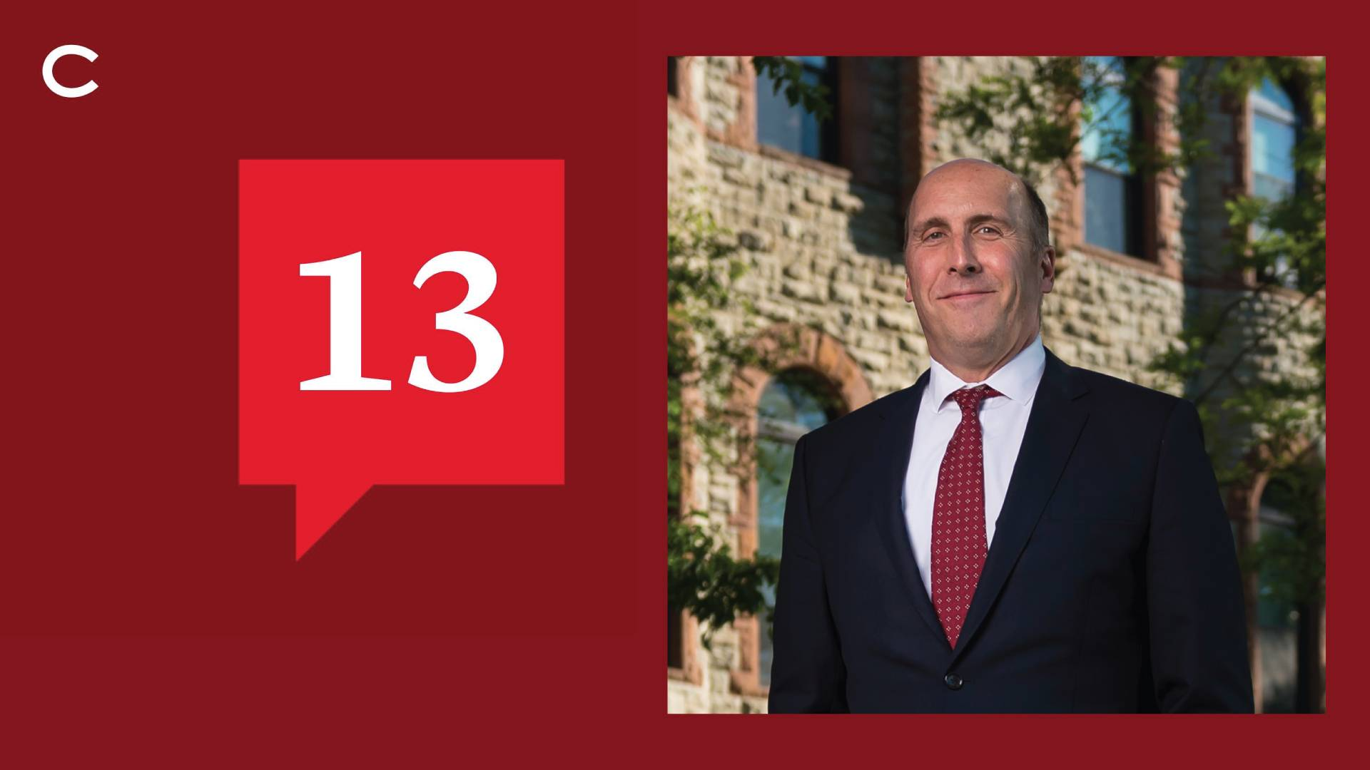 President Brian W. Casey is featured in the latest episode of 13.