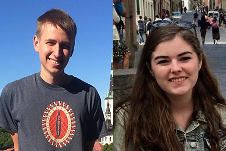 "William Andrews '16 (left) and Carolyn ""Cara"" Skelly '16 (right)"