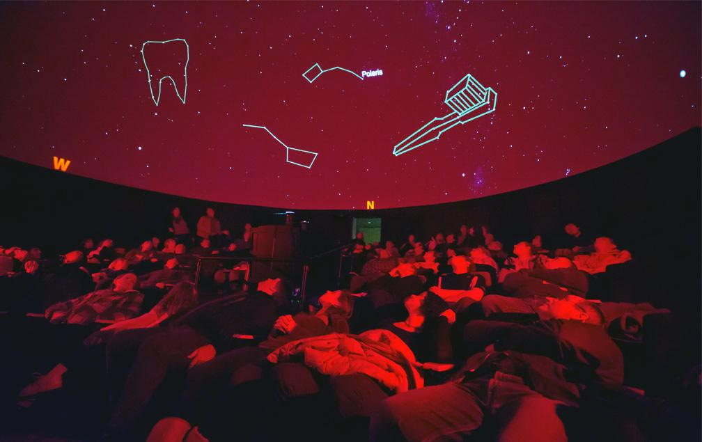 April Fools!: Ho Visualization Lab with a toothbrush constellation in the sky