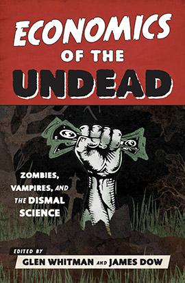 Book cover showing a zombie hand holding money
