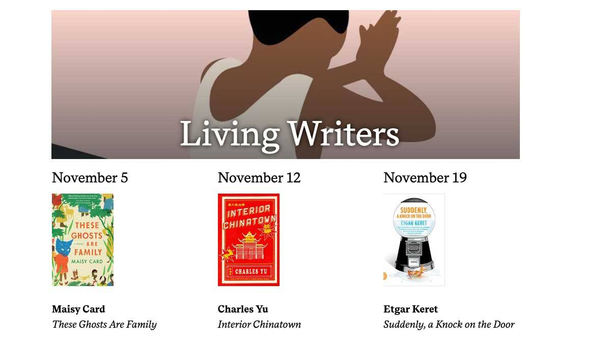 Living Writers November book covers